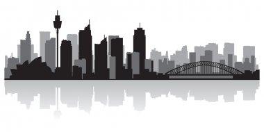 Sydney Australia city skyline vector silhouette