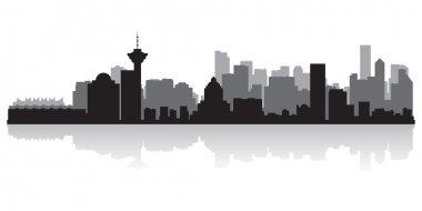 Vancouver Canada city skyline vector silhouette
