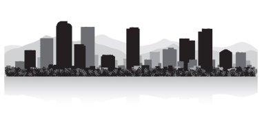 Denver city skyline silhouette