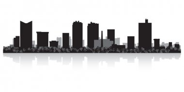 Fort Worth city skyline silhouette
