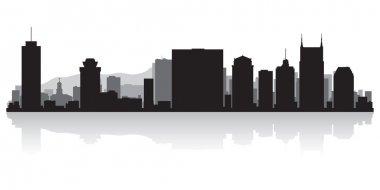 Nashville city skyline silhouette