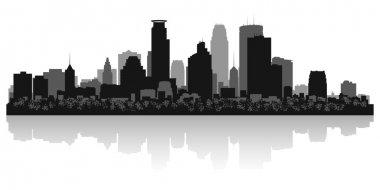 Minneapolis city skyline silhouette