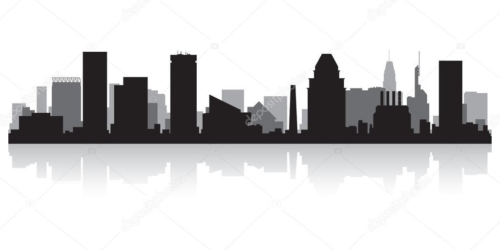 baltimore city skyline silhouette  u2014 stock vector  u00a9 yurkaimmortal  28855933