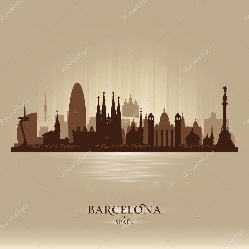 Áˆ Vektornyj Risunok Barselony Vektornye Kartinki Illyustracii Barselona Skachat Na Depositphotos