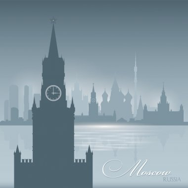 Moscow Russia skyline city silhouette background
