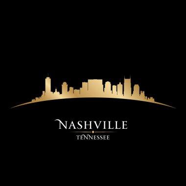Nashville Tennessee city skyline silhouette black background