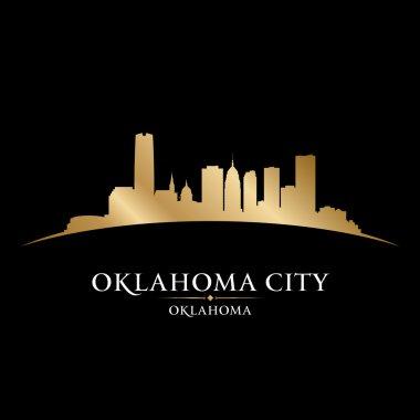 Oklahoma city silhouette black background