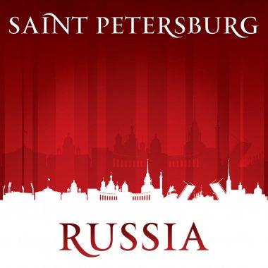 Saint Petersburg Russia city skyline silhouette. Vector illustration clip art vector