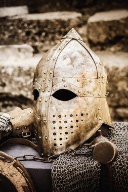 Protective Helmet Medieval Knight