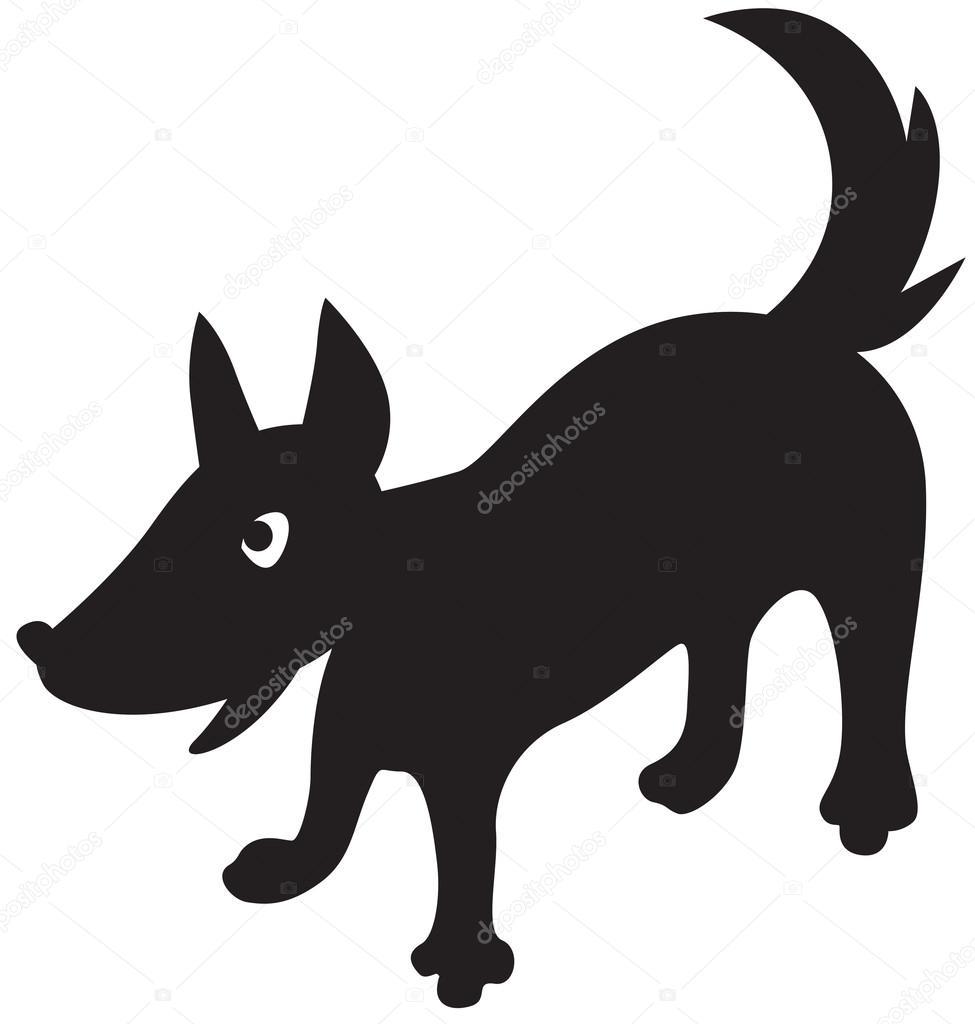 Carta da parati un cane cartone animato possesso di un calcio su