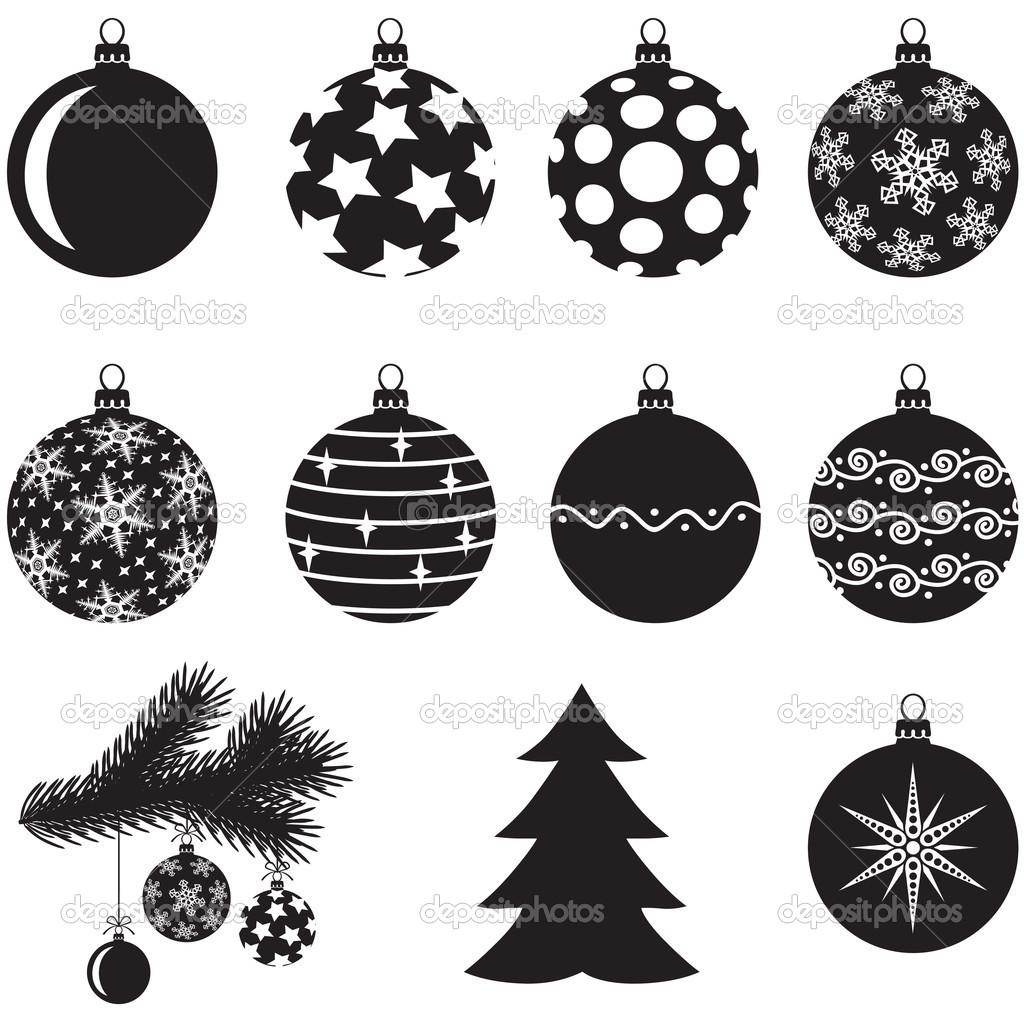 Disegni Di Natale Vettoriali.Set Di Palline Di Natale Vettoriali Stock C Agrino 16281869