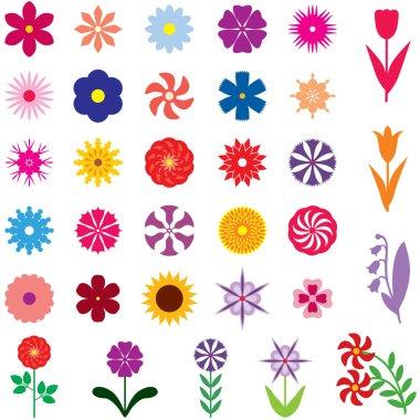 """Картина, постер, плакат, фотообои """"set multicolor flower"""", артикул 23419132"""
