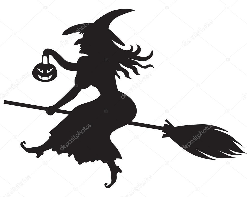 картинка ведьмы на метле