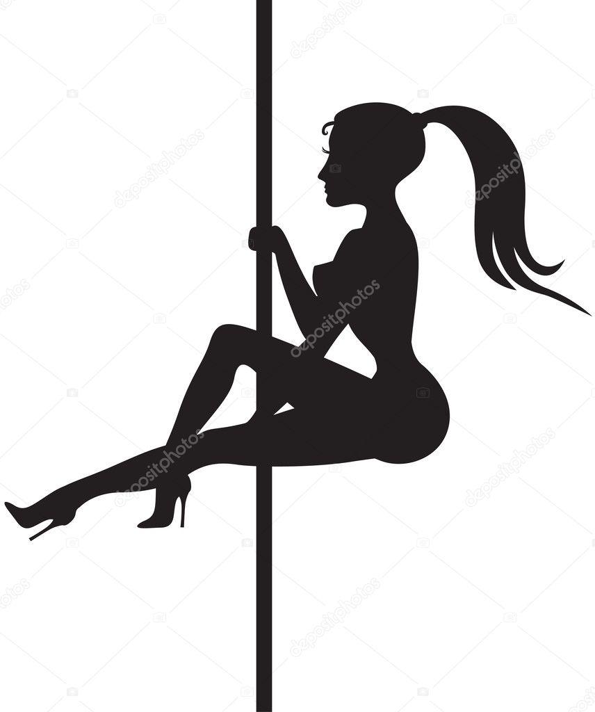silhouette de danseuse de strip tease image vectorielle agrino 30628903. Black Bedroom Furniture Sets. Home Design Ideas