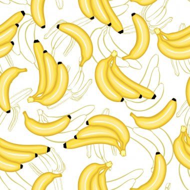 Bananas fruit pattern seamless