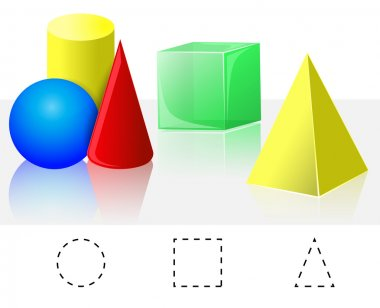 Geometry. Cube, Pyramid, Cone, Cylinder, Sphere