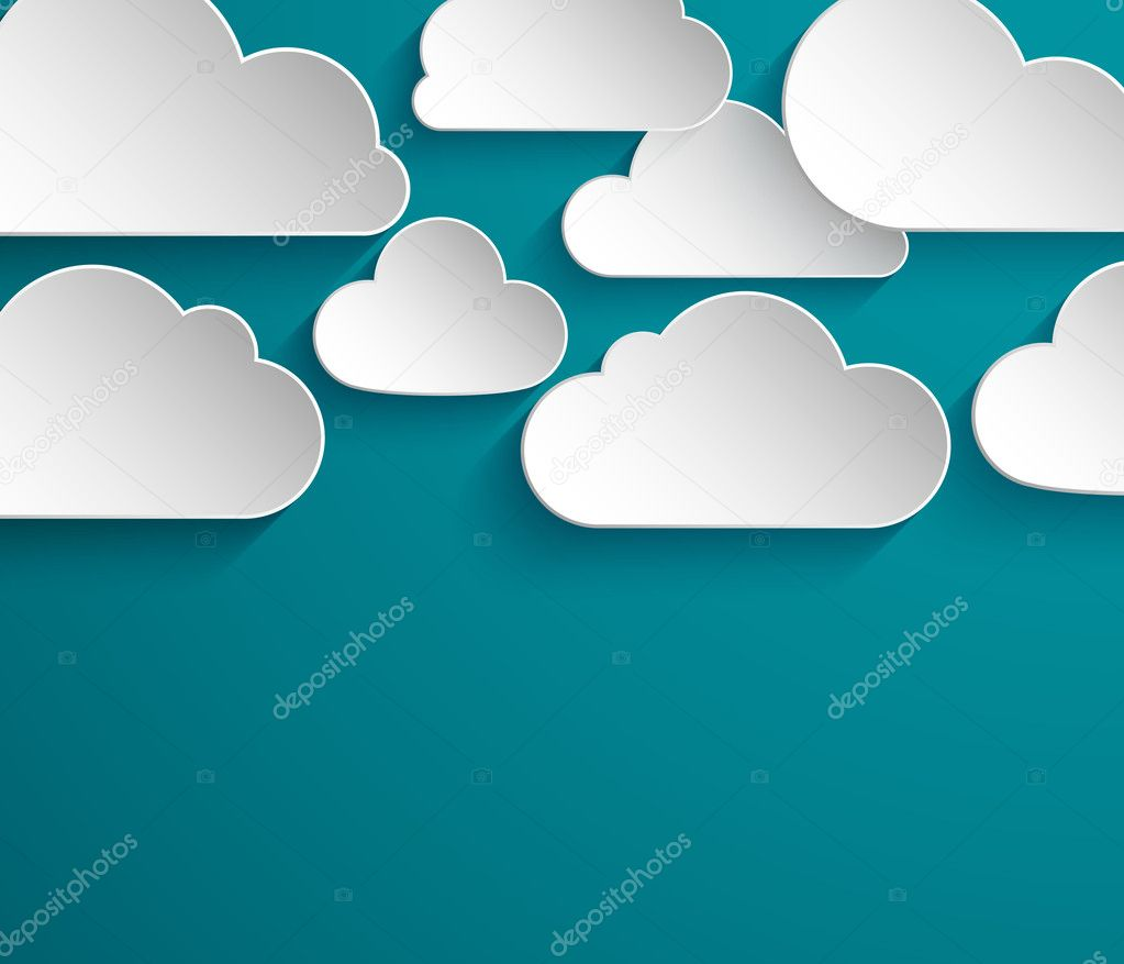 Abstract paper clouds background.