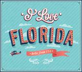 Vintage pohlednice z florida - usa