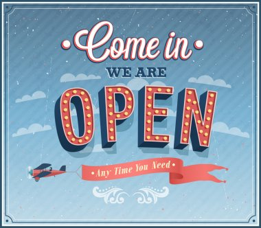 Come in we are open typographic design.