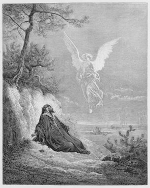 Elijah is nourished by an Angel