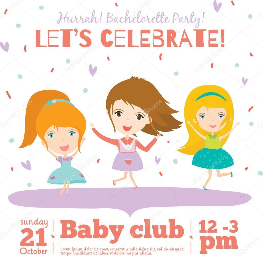 Bachelorette party invitation card — Stock Vector © one7thlifetime ...