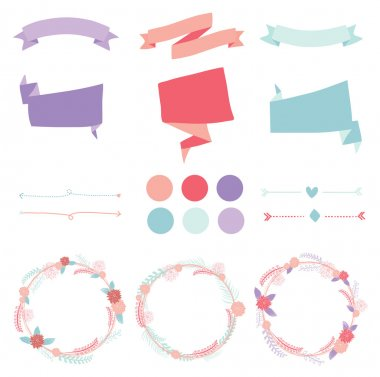 Set of colorful circle diagram for your design