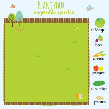 Concept game where you have to plant your garden