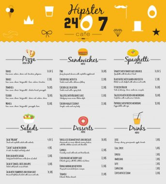 Big set of restaurant and cafe menu design