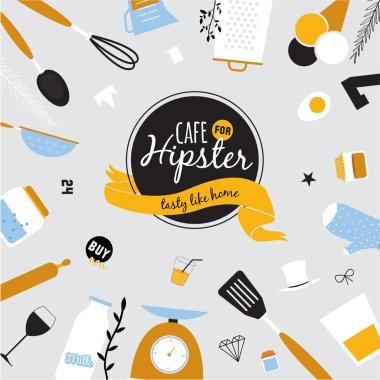 Big set of restaurant and cafe menu design