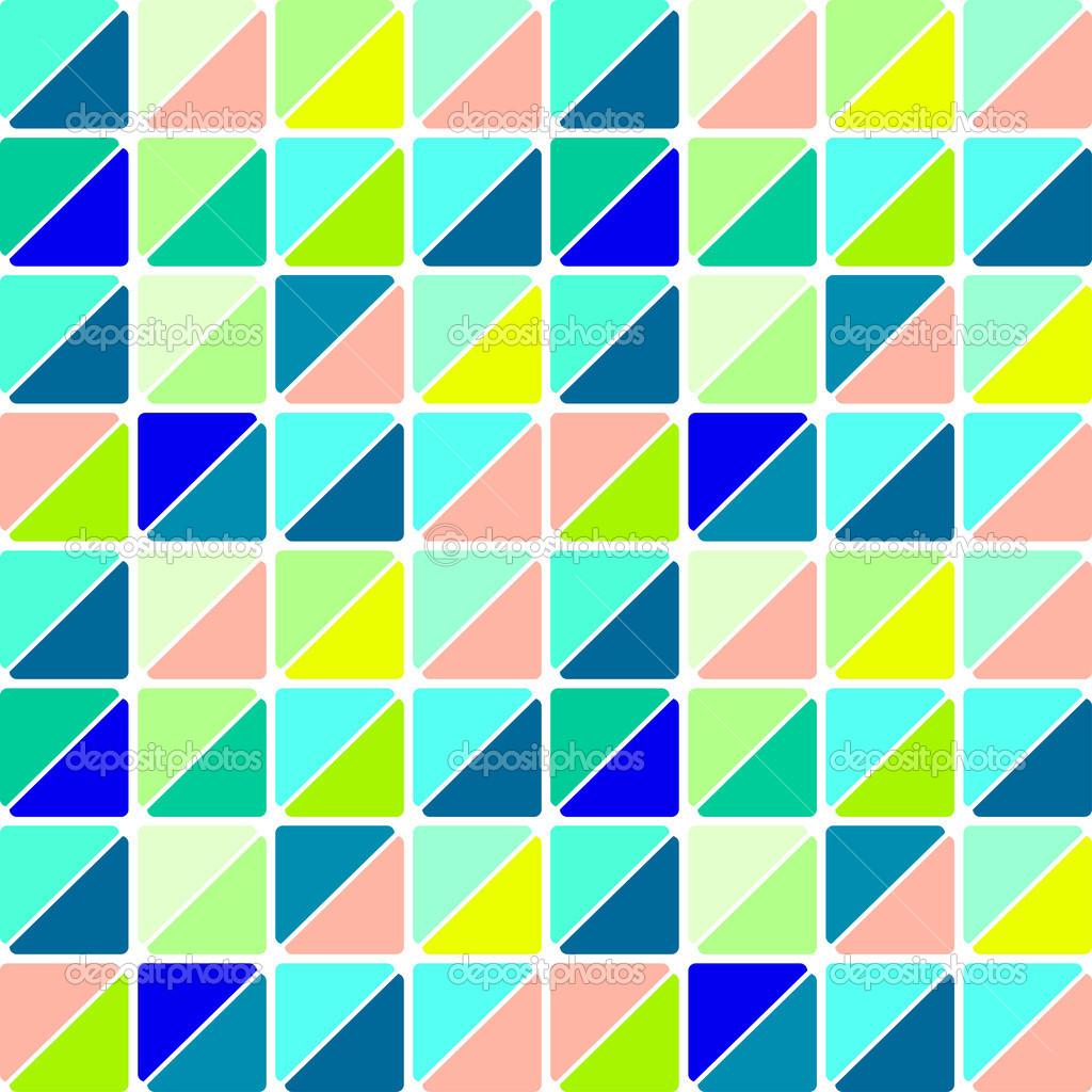 Patr n de dise o retro con tri ngulos de mosaico de - Mosaicos de colores ...