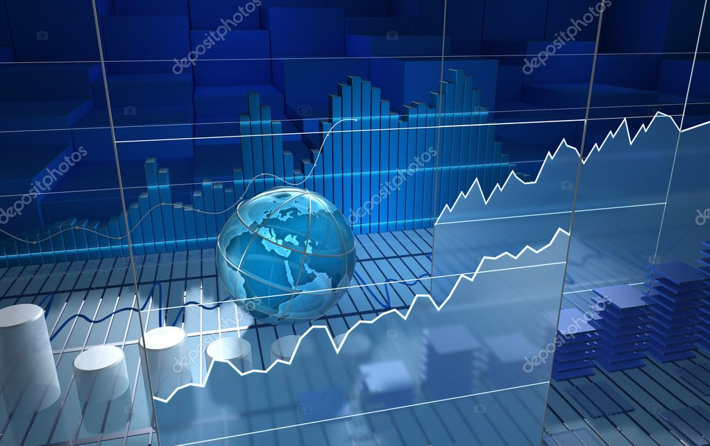 Stock exchange board, abstract background