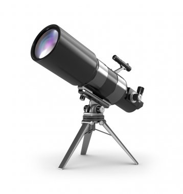 Telescope on support over wite