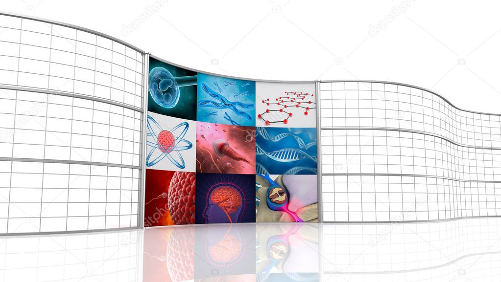 Medical background , digital 3D display