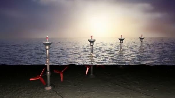 mořské přílivové energie, koncept