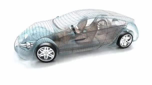 design auta, drát modelu. můj vlastní design