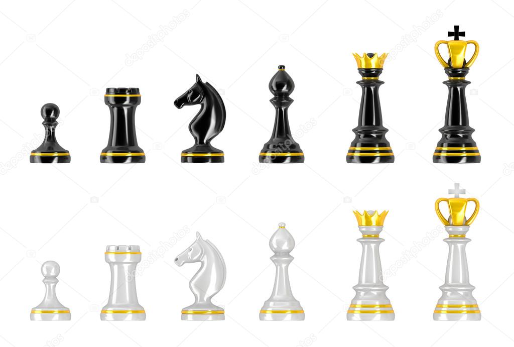Template of chess pieces. — Stock Photo © Alexmit #21923249