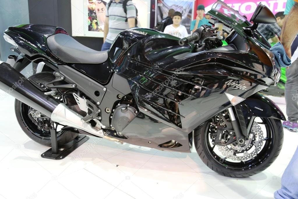 Motorcycle Kawasaki Ninja Black Model Zx 14r Stock Editorial Photo