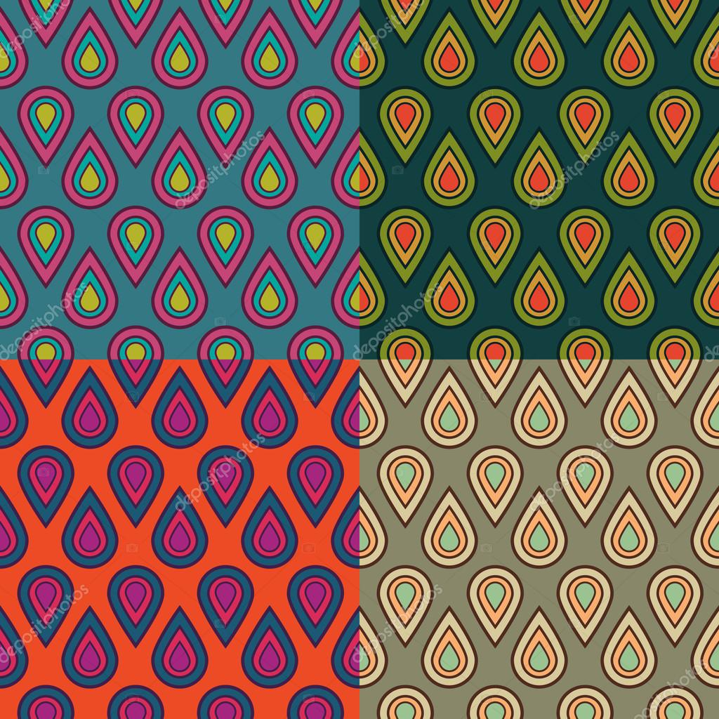 Seamless drops bubbles kids pattern in vector