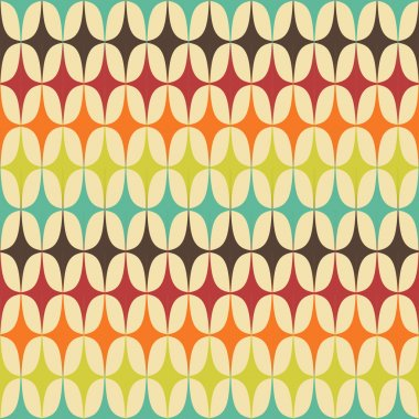 Abstract Retro Geometric seamless pattern with triangles. Vector Illustration