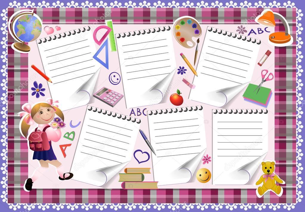 Картинки с расписанием уроков на английском языке
