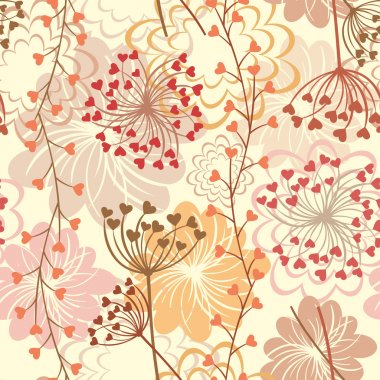 Seamless floral retro background