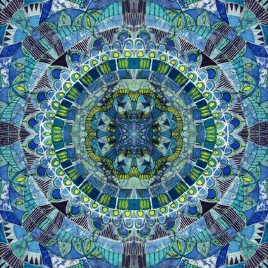 Unique ornament batik combined in raster seamless pattern.