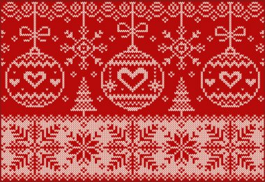 New Year knitted northern pattern.