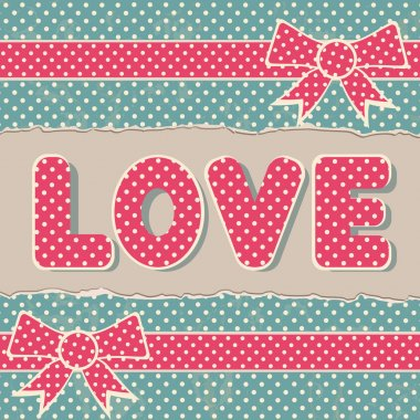 Greetings card with LOVE