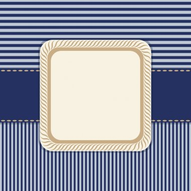 Dark blue striped background with frame