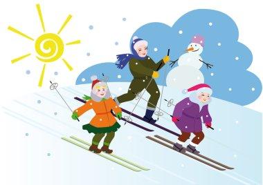 Children's winter vacation