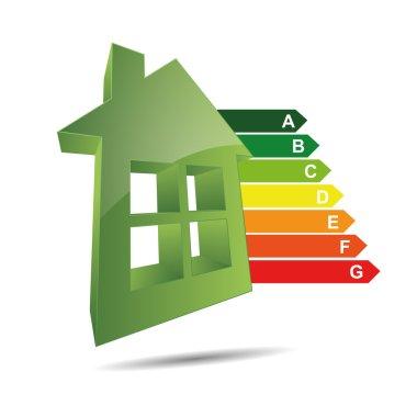3D abstraction logo symbol icon eigenheim energy home energy efficiency energy class power cost