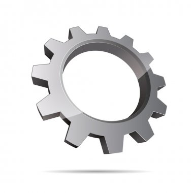 3D abstraction pinion wheel motor engineering metal corporate logo design icon sign