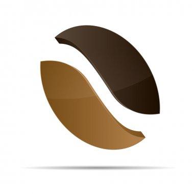 3d coffee cafe bean corporate design icon logo trademark