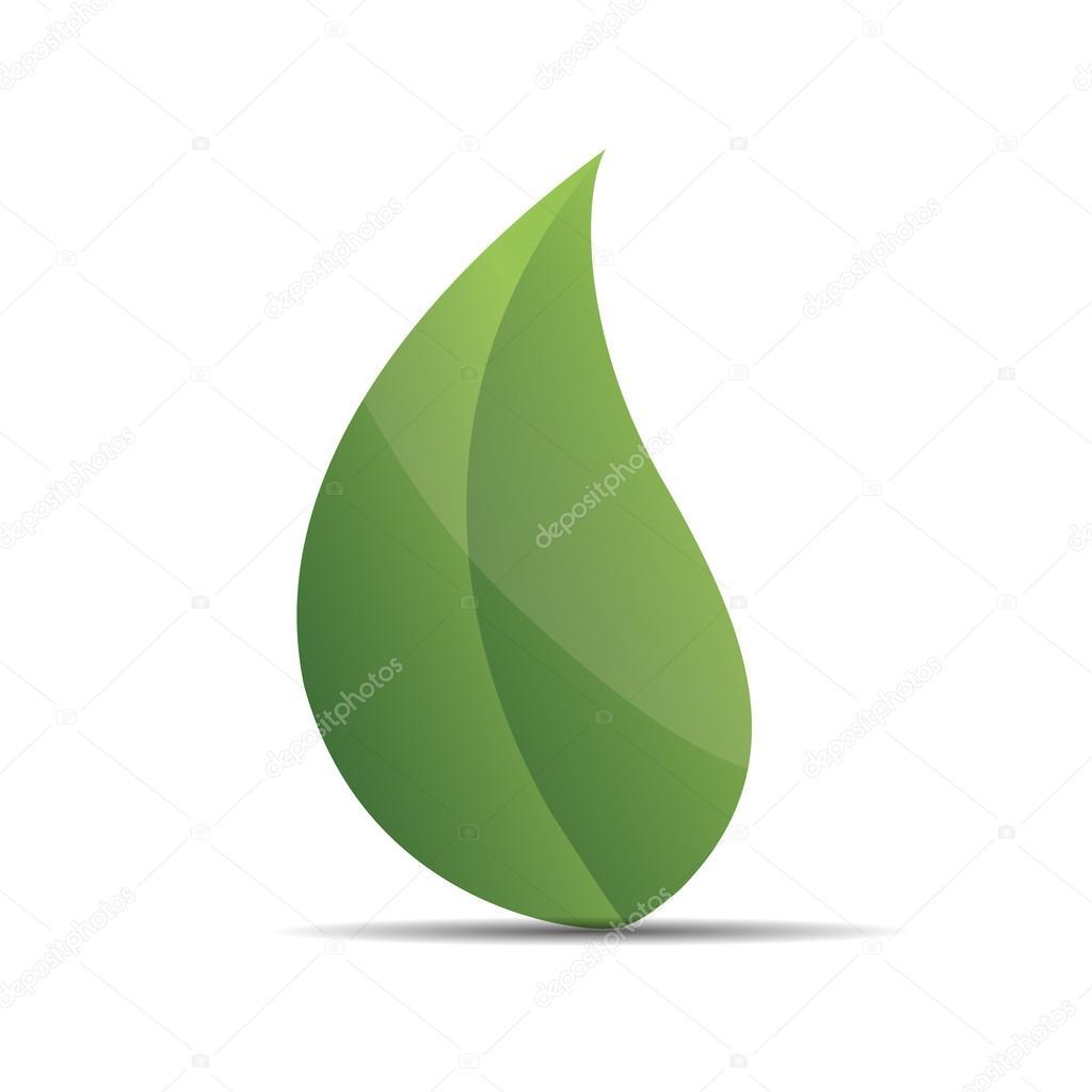 3D nature tree green leaf zen wellness corporate design icon logo trademark